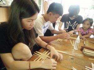 編織課程—經緯編織